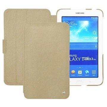 Samsung Galaxy Tab 3 Lite 7.0 Noreve Tradition Läpällinen Nahkakotelo Beige