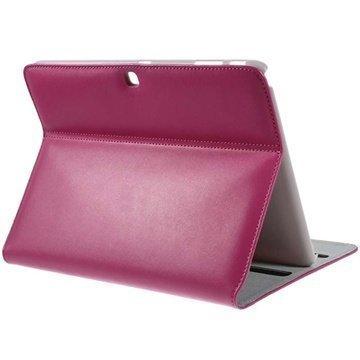 Samsung Galaxy Tab 4 10.1 Doormoon Smart Nahkakotelo Kuuma Pinkki