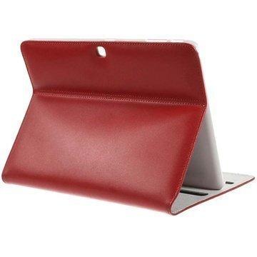 Samsung Galaxy Tab 4 10.1 Doormoon Smart Nahkakotelo Punainen