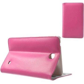 Samsung Galaxy Tab 4 7.0 Doormoon Avattava Nahkakotelo Kuuma Pinkki