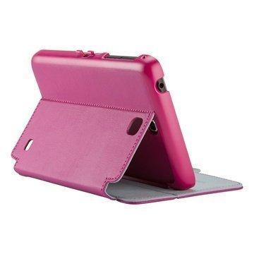 Samsung Galaxy Tab 4 7.0 Speck StyleFolio Nahkakotelo Vaaleanpunainen / Harmaa