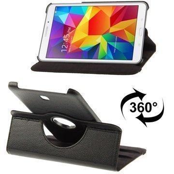 Samsung Galaxy Tab 4 8.0 Tuff-luv Pyörivä Kotelo Musta