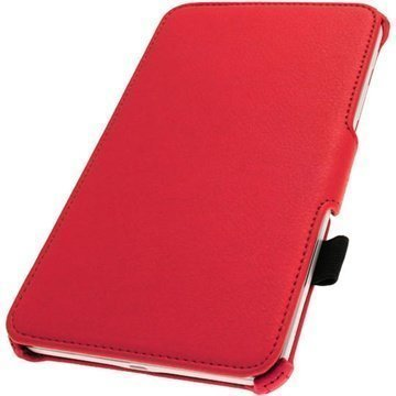 Samsung Galaxy Tab 4 8.0 iGadgitz Executive Leather Case Punainen