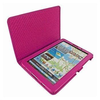Samsung Galaxy Tab 7.7 P6800 Piel Frama Nahkakotelo Fuksianpunainen