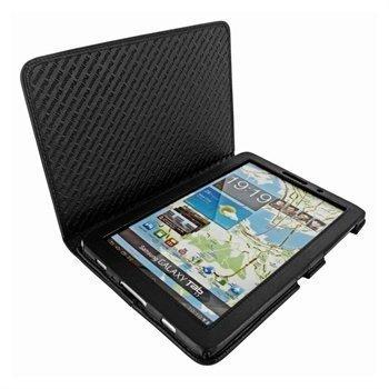Samsung Galaxy Tab 7.7 P6800 Piel Frama Nahkakotelo Musta