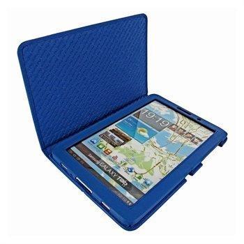 Samsung Galaxy Tab 7.7 P6800 Piel Frama Nahkakotelo Sininen