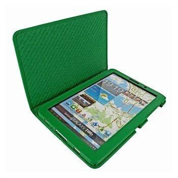 Samsung Galaxy Tab 7.7 P6800 Piel Frama Nahkakotelo Vihreä