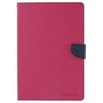 Samsung Galaxy Tab A 9.7 Mercury Goospery Fancy Diary Folio Kotelo Tumman Sininen / Kuuma Pinkki