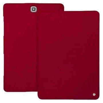 Samsung Galaxy Tab A 9.7 Noreve Tradition Nahkakotelo Perpétuelle Punainen