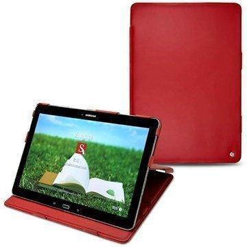 Samsung Galaxy Tab Pro 12.2 Noreve Tradition Nahkakotelo Punainen