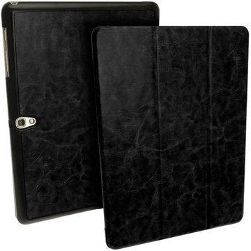Samsung Galaxy Tab S 10.5 iGadgitz Premium Nahkainen Suojakotelo Musta