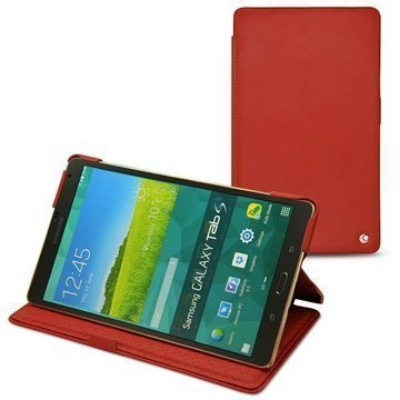 Samsung Galaxy Tab S 8.4 Noreve Tradition Leather Case Punainen