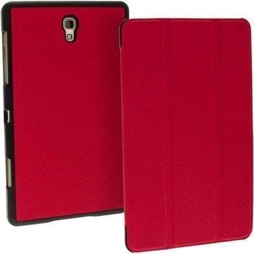 Samsung Galaxy Tab S 8.4 iGadgitz Premium Nahkakotelo Punainen