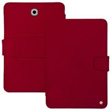 Samsung Galaxy Tab S2 8.0 T710 Noreve Tradition B Nahkainen Suojakotelo Perpétuelle Punainen