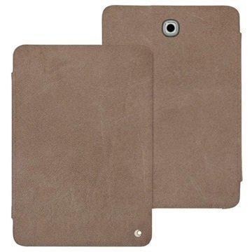 Samsung Galaxy Tab S2 8.0 T710 Noreve Tradition Nahkainen Suojakotelo Exception Harmaanruskea Vintage