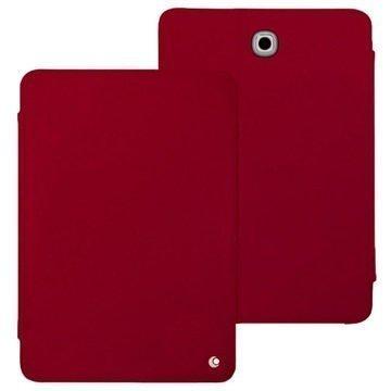 Samsung Galaxy Tab S2 8.0 T710 Noreve Tradition Nahkainen Suojakotelo Perpétuelle Punainen