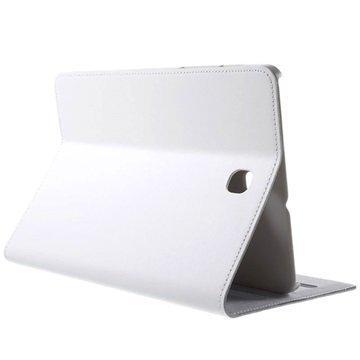 Samsung Galaxy Tab S2 8.0 T710 T715 Doormoon Folio Nahkakotelo Valkoinen