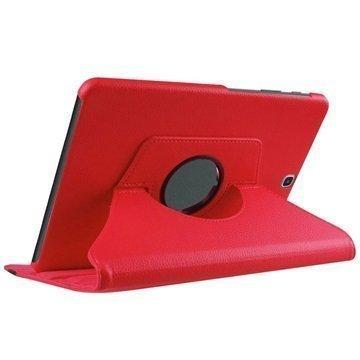 Samsung Galaxy Tab S2 8.0 T710 Tuff-luv Pyörivä Kotelo Punainen