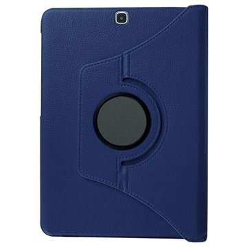 Samsung Galaxy Tab S2 8.0 T710 Tuff-luv Pyörivä Kotelo Sininen