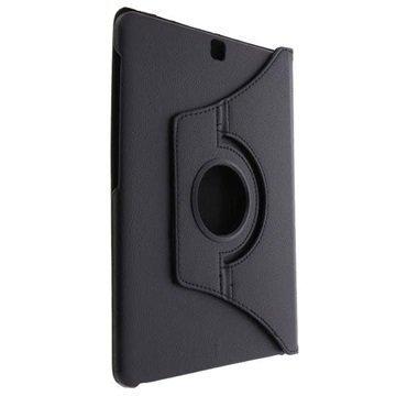 Samsung Galaxy Tab S2 9.7 T810 T815 Tuff-luv Pyörivä Kotelo Musta
