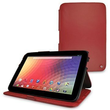 Samsung Google Nexus 10 Noreve Tradition Leather Case Red