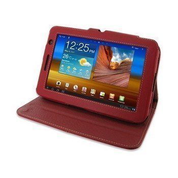 Samsung P6200 Galaxy Tab 7.0 Plus PDair Leather Case Red