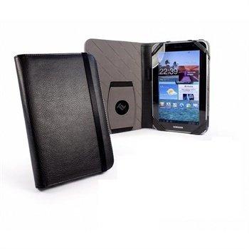 Samsung P6200 Galaxy Tab 7.0 Plus Tuff-Luv Embrace Nahkakotelo Musta