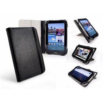 Samsung P6200 Galaxy Tab 7.0 Plus Tuff-Luv Tri-Stand Nahkakotelo Musta