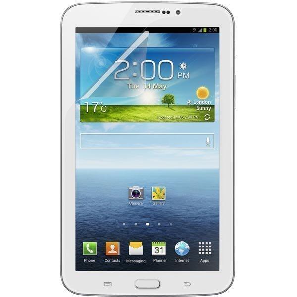 Screen Guard + näyttösuojus Samsung Galaxy Tab 3 7.0tabletille läpinäk