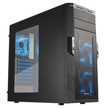 Sharkoon T28 Mid Tower ATX PC-Kotelo Musta / Sininen