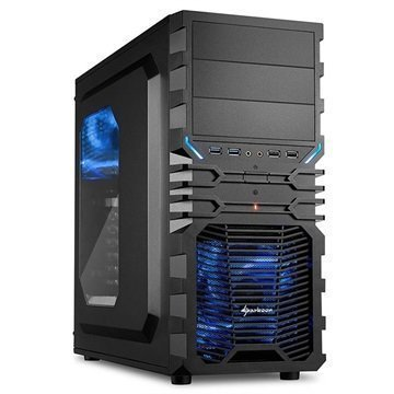 Sharkoon VG4-W Mid Tower ATX PC-Kotelo Musta / Sininen