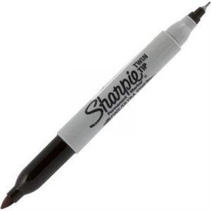 Sharpie Twin Tip Permanent Marker Musta Tuck 12-pakkaus