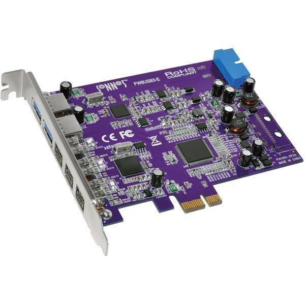 Sonnet PCI-Express x1 kort USB 3.0/FW 800 2x USB 3.0 3x FW 800