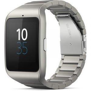 Sony Smartwatch 3 Swr50 Metallinen Hopea