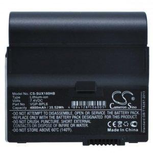Sony VAIO VGN-UX17GP VAIO VGN-UX17TP VAIO VGN-UX180P akku 4800 mAh