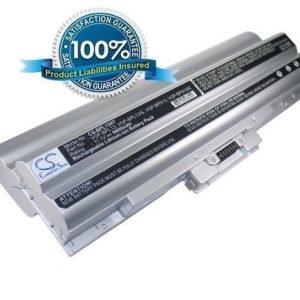 Sony VAIO VGP-BPL13 ja VGP-BPS13 akku 6600 mAh - Hopea