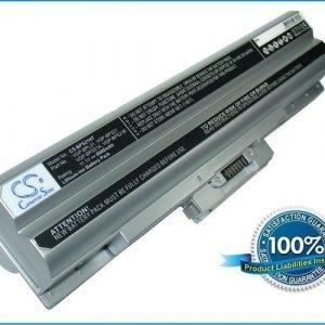 Sony VAIO VGP-BPL21 ja VGP-BPS21 akku 6600 mAh - Hopea