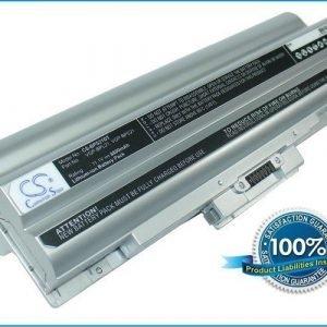 Sony VAIO VGP-BPL21 ja VGP-BPS21 akku 8800 mAh - Hopea
