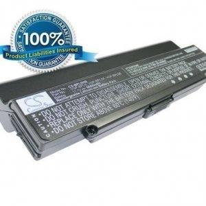 Sony VAIO VGP-BPS9 ja VGP-BPS10 akku 6600 mAh - Musta