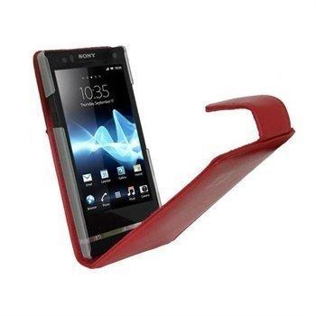 Sony Xperia S iGadgitz Nahkakotelo Punainen