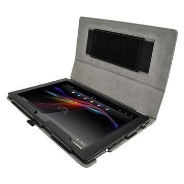Sony Xperia Tablet Z LTE Wi-Fi iGadgitz Portfolio Leather Case Black