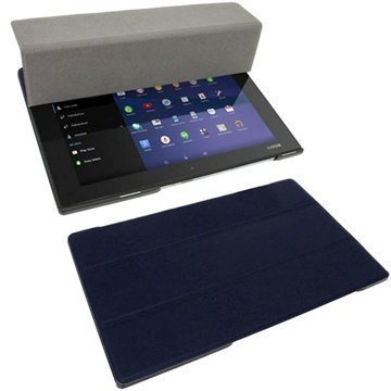 Sony Xperia Z2 Tablet LTE Z2 Tablet Wi-Fi iGadgitz Leather Case Dark Blue