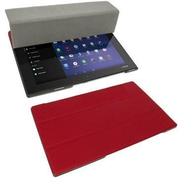 Sony Xperia Z2 Tablet LTE Z2 Tablet Wi-Fi iGadgitz Leather Case Red