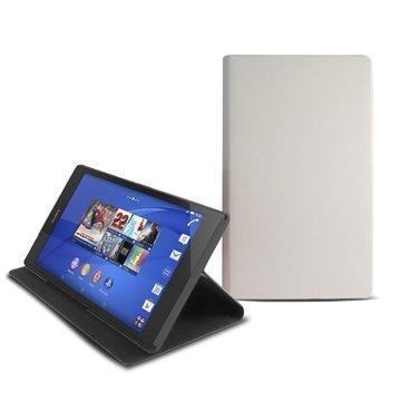 Sony Xperia Z3 Tablet Compact Ksix Jalustallinen Folio Kotelo Valkoinen