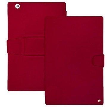 Sony Xperia Z4 Tablet LTE Noreve Tradition B Nahkakotelo Perpétuelle Punainen
