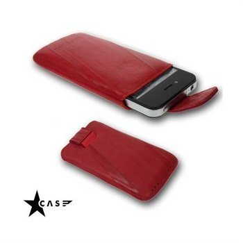 Starcase di base Linea Leather Case M Red