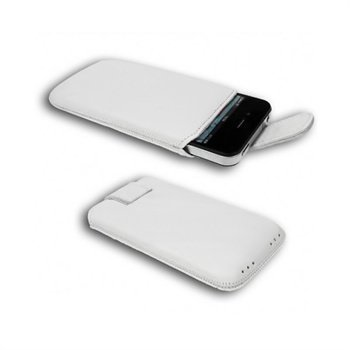 Starcase di base Linea Leather Case M White