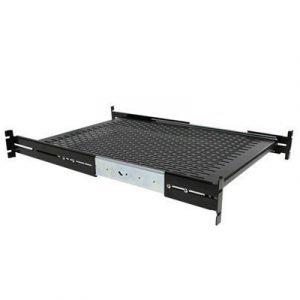 Startech 2u Adjustable Depth 22.7kg Server Rack Shelf 1u 19
