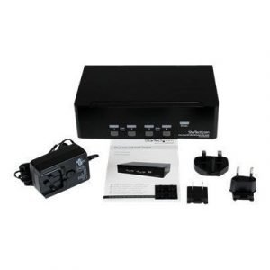 Startech 4 Port Dual Dvi Usb Kvm Switch W/ Audio & Usb Hub