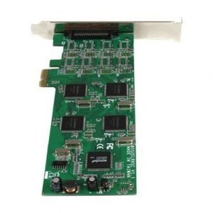 Startech 8 Port Low Profile Pci Express Rs232 Serial Card W/161050 Uart